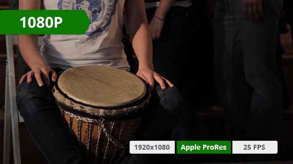 VideoHive Djembe Playing on Stage 10155259