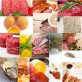high protein food collection collage - PhotoDune Item for Sale