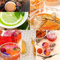 collection of different herbal tea infusion collage - PhotoDune Item for Sale