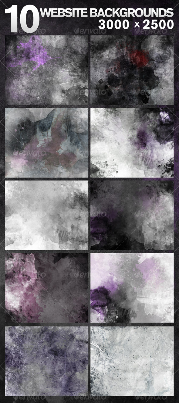 GraphicRiver 10 Web Backgrounds 3000x2500 128285