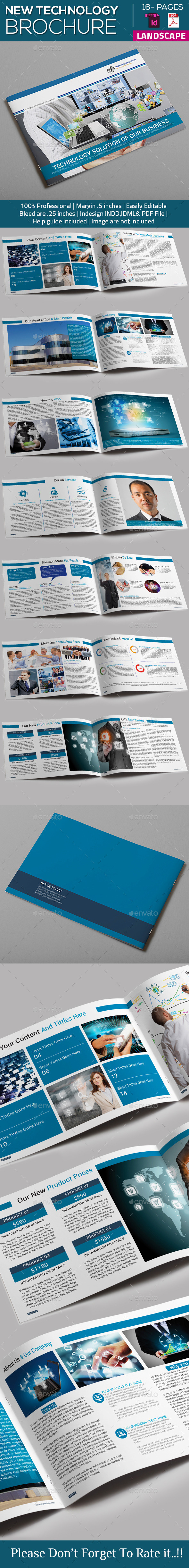 GraphicRiver New Technology Brochure Catalog Templates 10155678