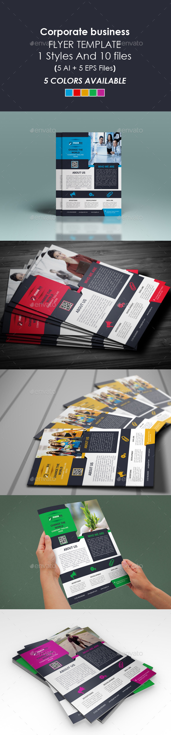 GraphicRiver Corporate Business Flyer Template 10155710