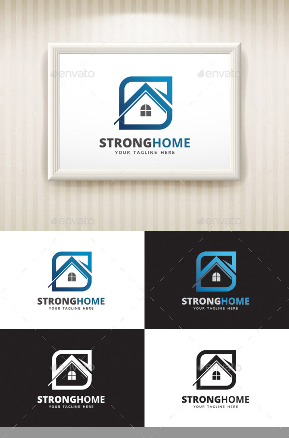 GraphicRiver Strong Home Logo 10155761