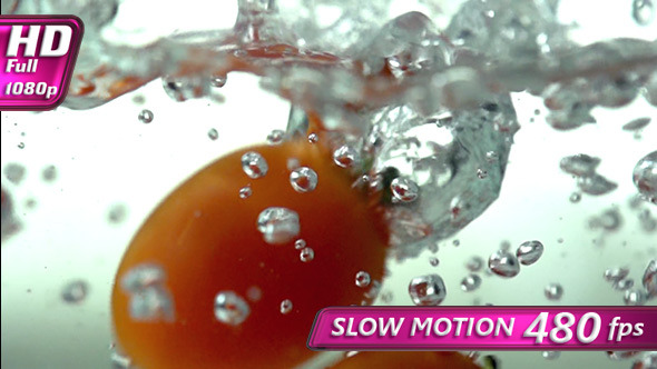 VideoHive Small Tomatoes in Water 10155796