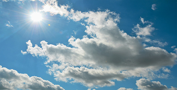 VideoHive Clouds In the Blue Sky And Sun 10155826
