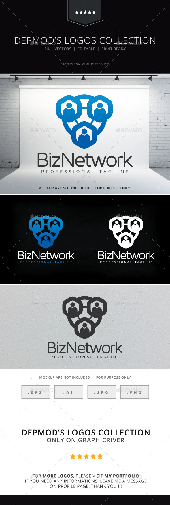 GraphicRiver Biz Network Logo 10155964
