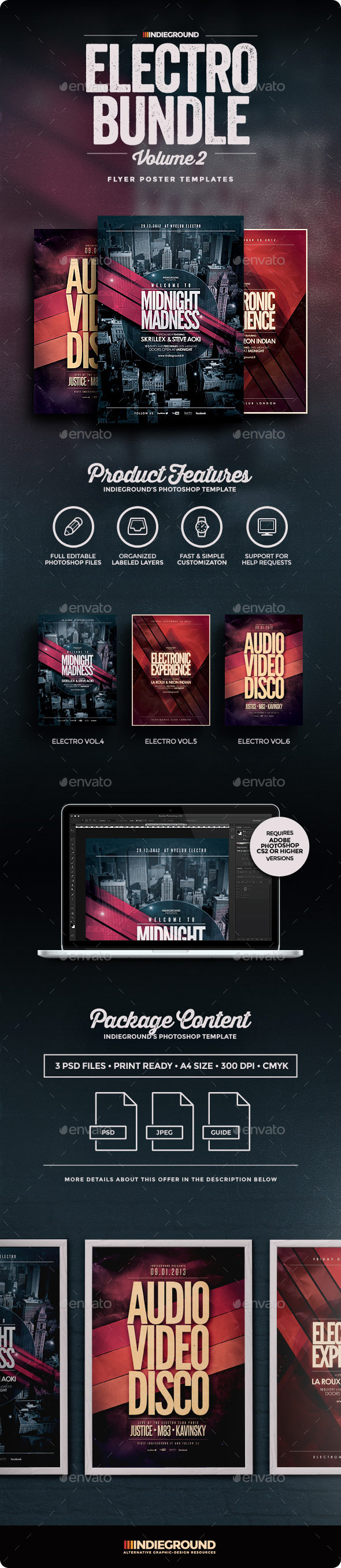 Electro Flyer/Poster Bundle Vol. 4-6 - Events Flyers