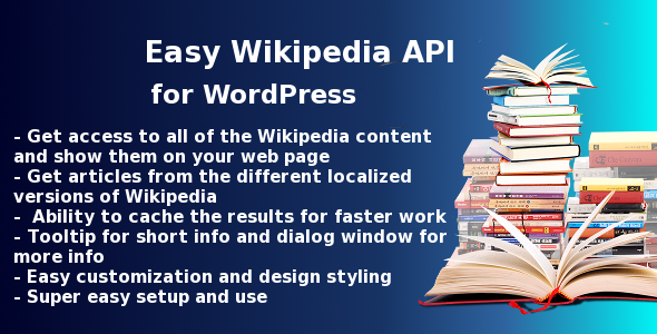 Easy Wikipedia API plugin for Wordpress