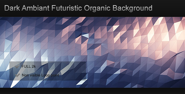 Dark Ambiant Futuristic Organic Background