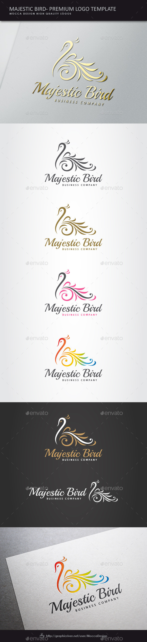 GraphicRiver Majestic Bird Logo 10156150