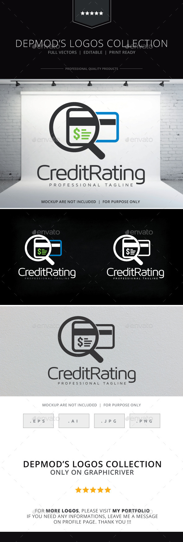 GraphicRiver Credit Rating Logo 10156250