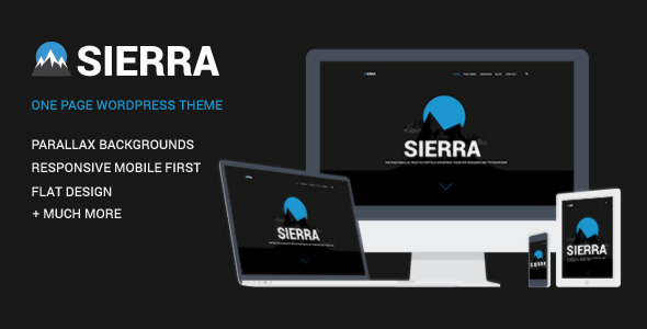 Sierra - One Page Parallax Responsive HTML theme - Creative Site Templates