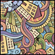 2 Doodles Houses Seamless Pattern - GraphicRiver Item for Sale