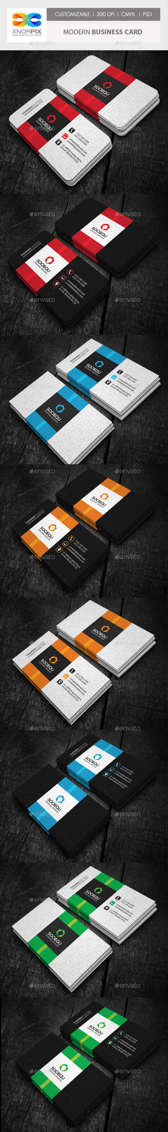 GraphicRiver Modern Business Card 10156336
