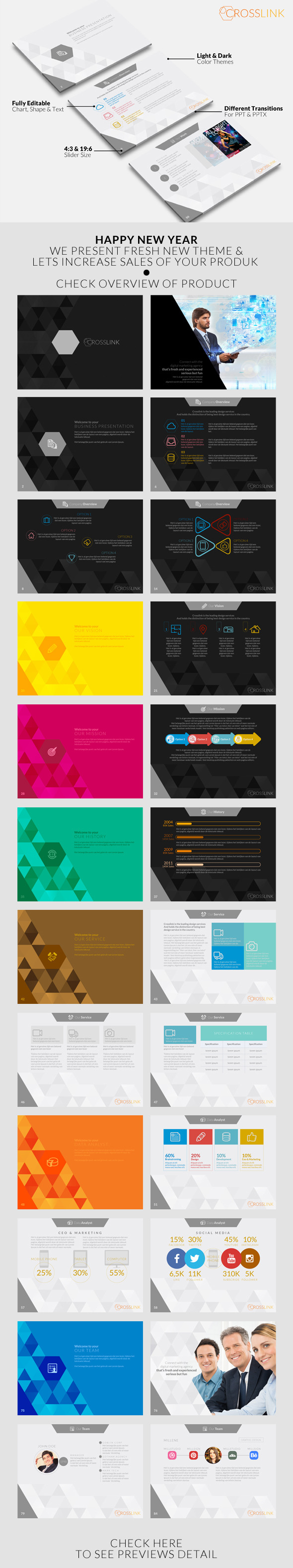 GraphicRiver Crosslink Powerpoint Template 10156347
