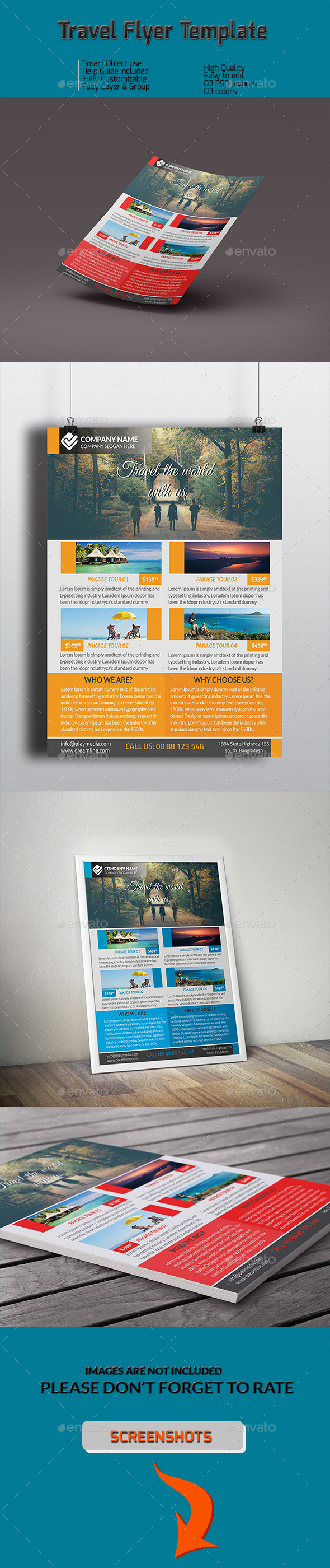 GraphicRiver Travel Flyer Template 10156432