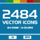 2484 Vector Icons - GraphicRiver Item for Sale