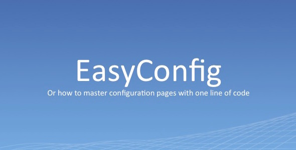 EasyConfig dynamically create config pages