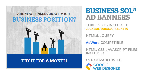 CodeCanyon Business Solution Corporate GWD HTML5 Ad Banner 10157527
