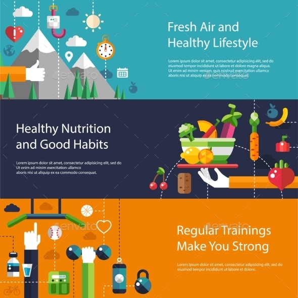 GraphicRiver Fitness Concept 10157639