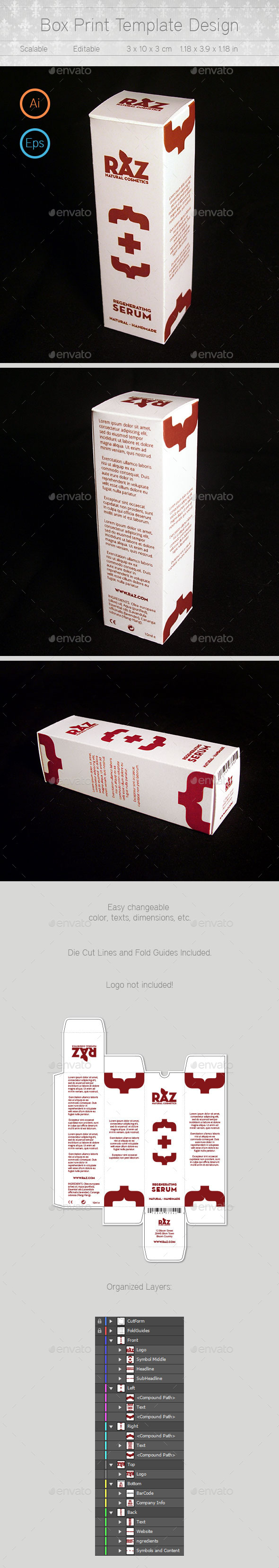 GraphicRiver Box Template Design 10157642