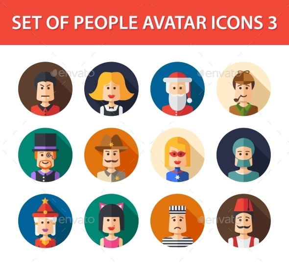GraphicRiver Set of People Avatar Icons 10157670