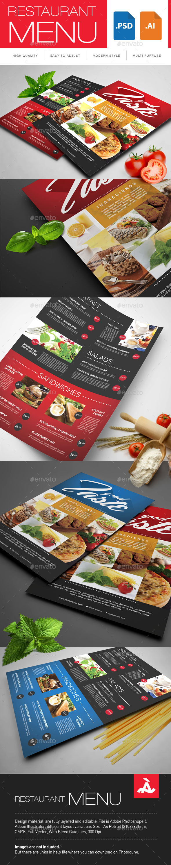 GraphicRiver Restaurant Menu 10157693