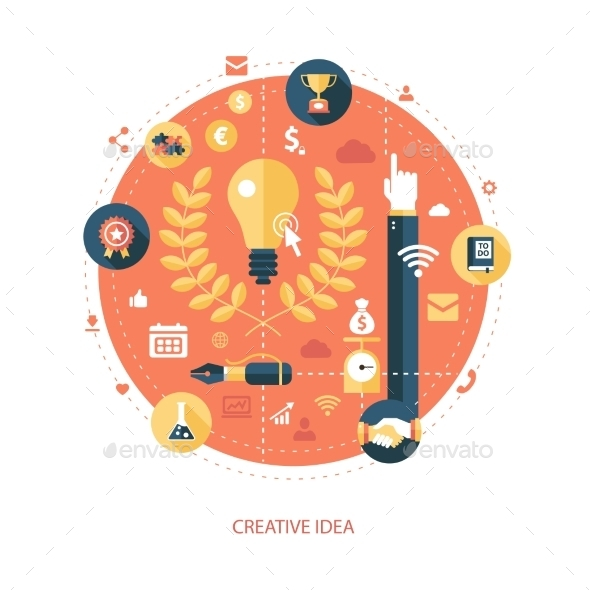GraphicRiver Creativity Icon 10157731