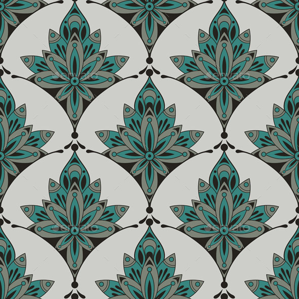 GraphicRiver Vector Seamless Floral Pattern 10157732