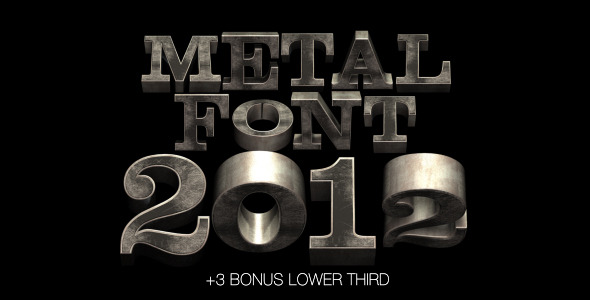 Metal Font 2012 VideoHive -   Elements  Other  Other 982183