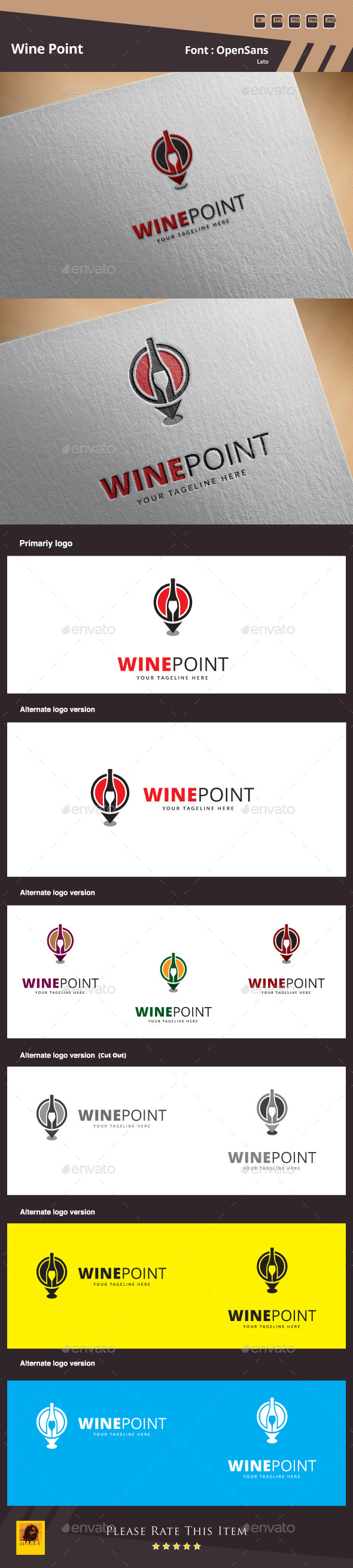 GraphicRiver Wine Point Logo Template 10158043