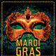 Mardi Gras Mask Party Flyer - GraphicRiver Item for Sale