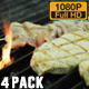 Meat Grilled in Kitchen - VideoHive Item for Sale