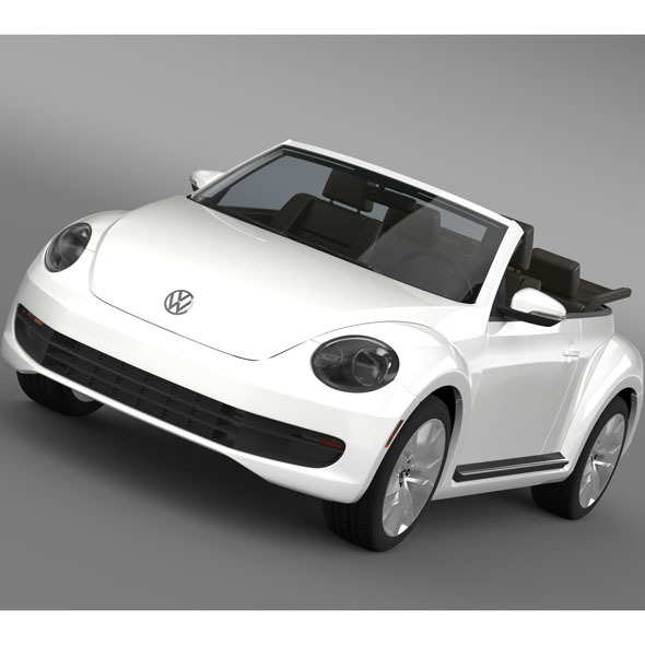 VW Beetle TDI Cabrio 2014 - 3DOcean Item for Sale