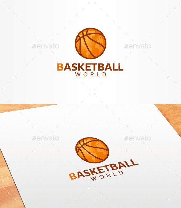 Basketball World Logo Template