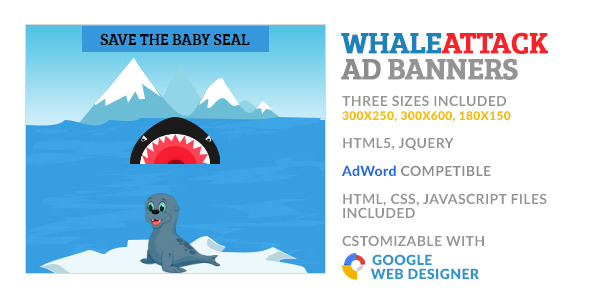 WhaleAttack Game GWD HTML5 Ad Banner