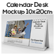 Calendar Desk Mockups For 10x20 cm - GraphicRiver Item for Sale