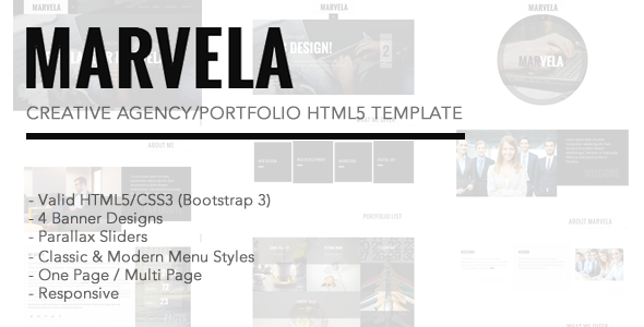 ThemeForest MARVELA Agency Portfolio HTML5 Template 10158630