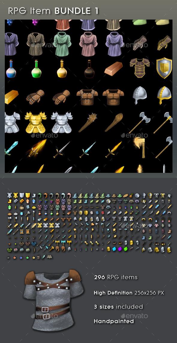 GraphicRiver RPG Item Bundle 1 10158696