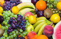 background of fresh fruits bunch berry, banana - PhotoDune Item for Sale