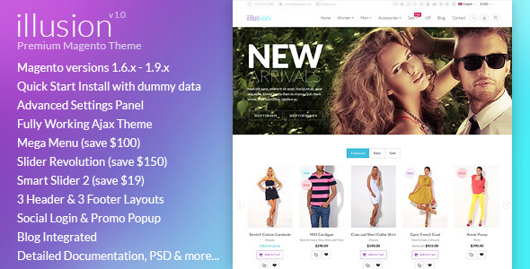 ThemeForest illusion Premium Multipurpose Magento Theme 10158703