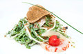 salad greens and shrimp meat on a white background - PhotoDune Item for Sale