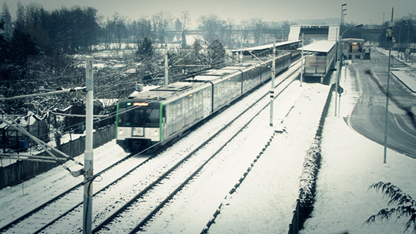 VideoHive Winter Train 10158827