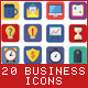 20 Business Flat Icons