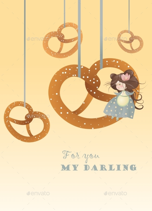 GraphicRiver Girl with Pretzels 10158889