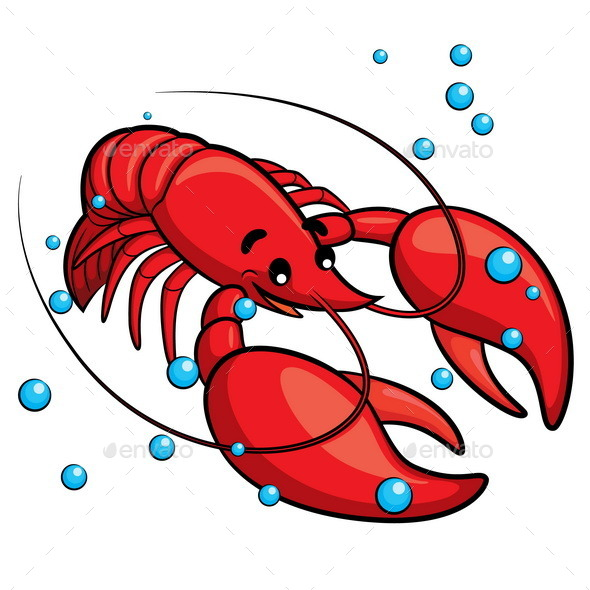 GraphicRiver Lobster Cartoon 10158893