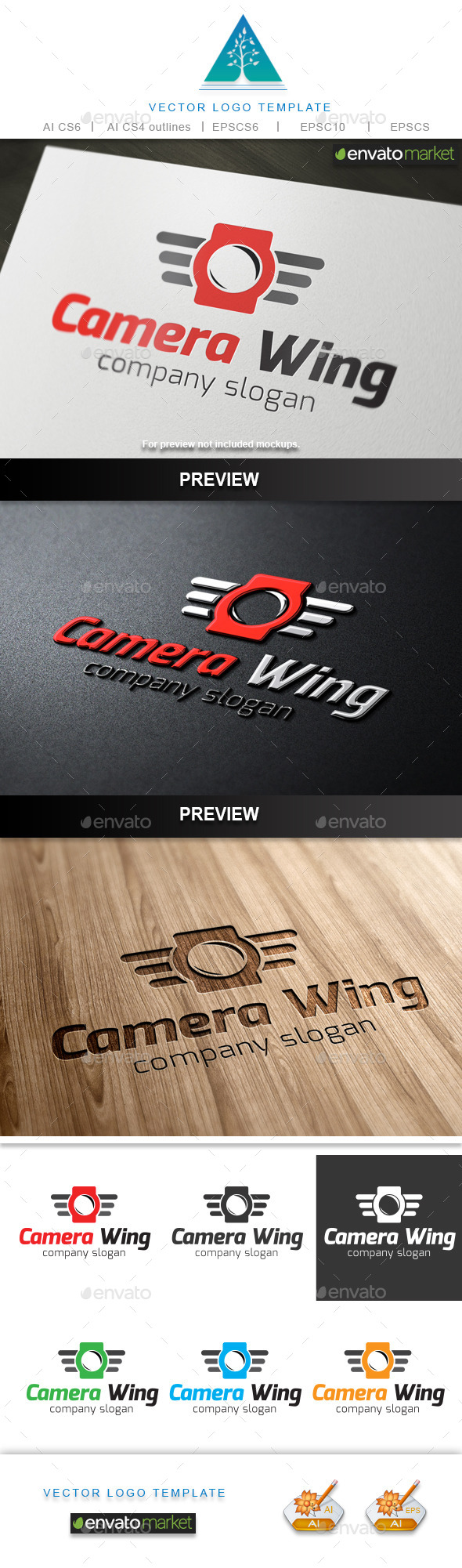 GraphicRiver Camera Wing Logo 10159217