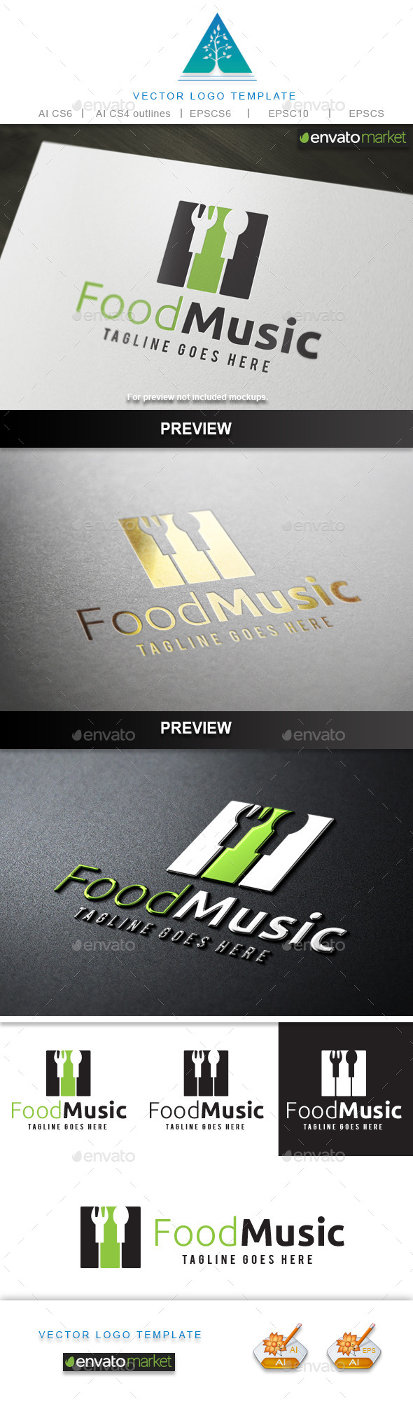 Food Music Logo