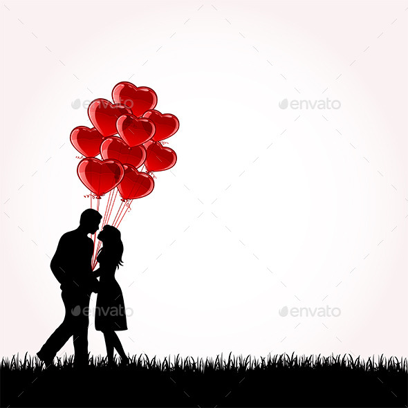GraphicRiver Couple with Balloons 10159472
