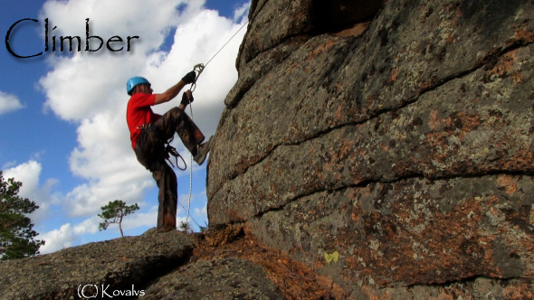 VideoHive Climber On The Cliff 10159750